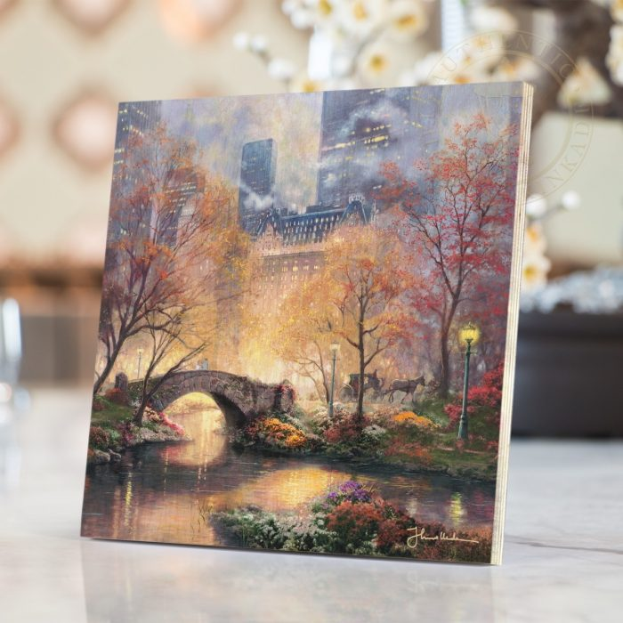 "Central Park in the Fall – 8"" x 8"" Print on Wood"
