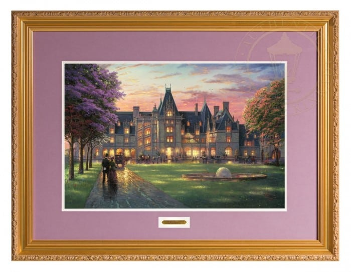 Elegant Evening at Biltmore®  – 18″ x 27″ SN Limited Edition Framed Print (Carmella Frame)