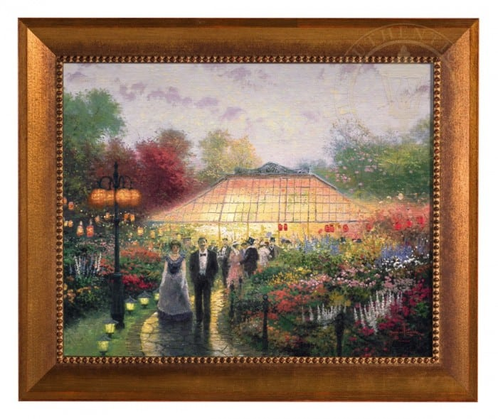 The Garden Party – Framed Textured Print