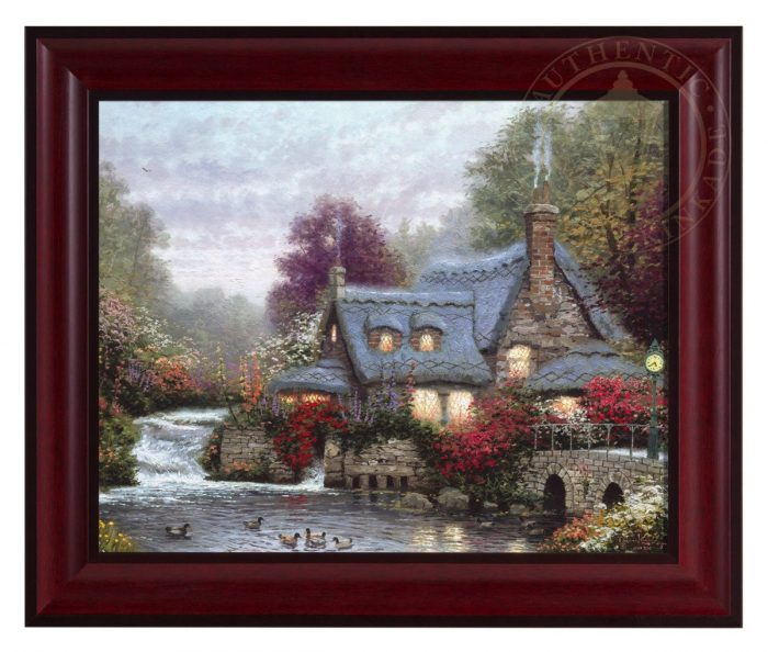Miller's Cottage, Thomashire, The – Framed Textured Print