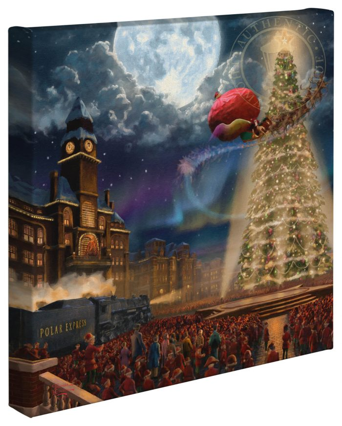 The Polar Express™ – 14″ x 14″ Gallery Wrapped Canvas