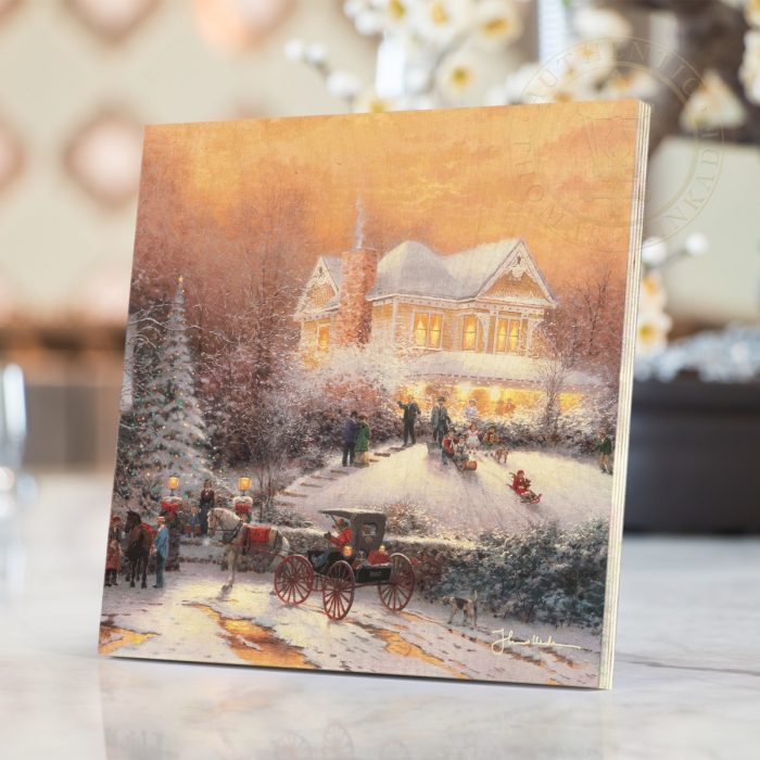 "Victorian Christmas II – 8"" x 8"" Print on Wood"