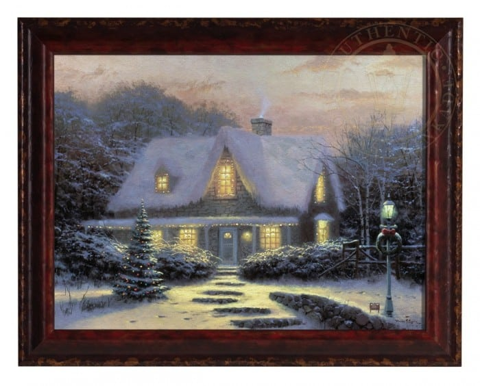 Christmas Eve – Framed Textured Print