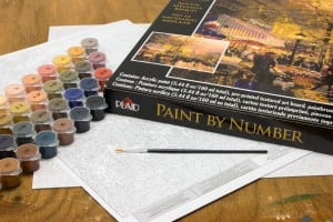 Plaid Paint by Number Thomas Kinkade