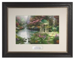 The Garden of Prayer Thomas Kinkade Inspirational Print