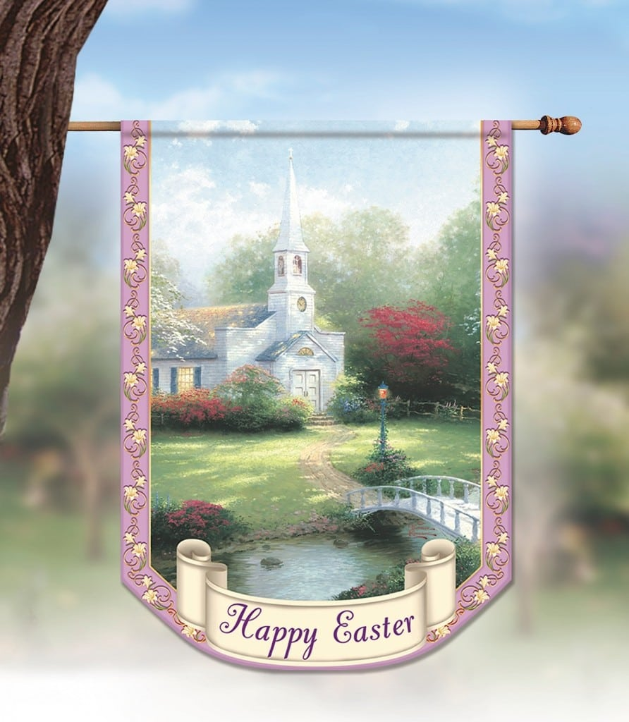 The Bradford Exchange Thomas Kinkade Easter Flag
