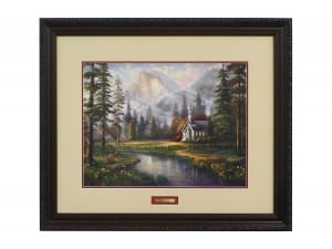 Thomas Kinkade Vault - Valley Chapel Framed Limited Edition Paper Print