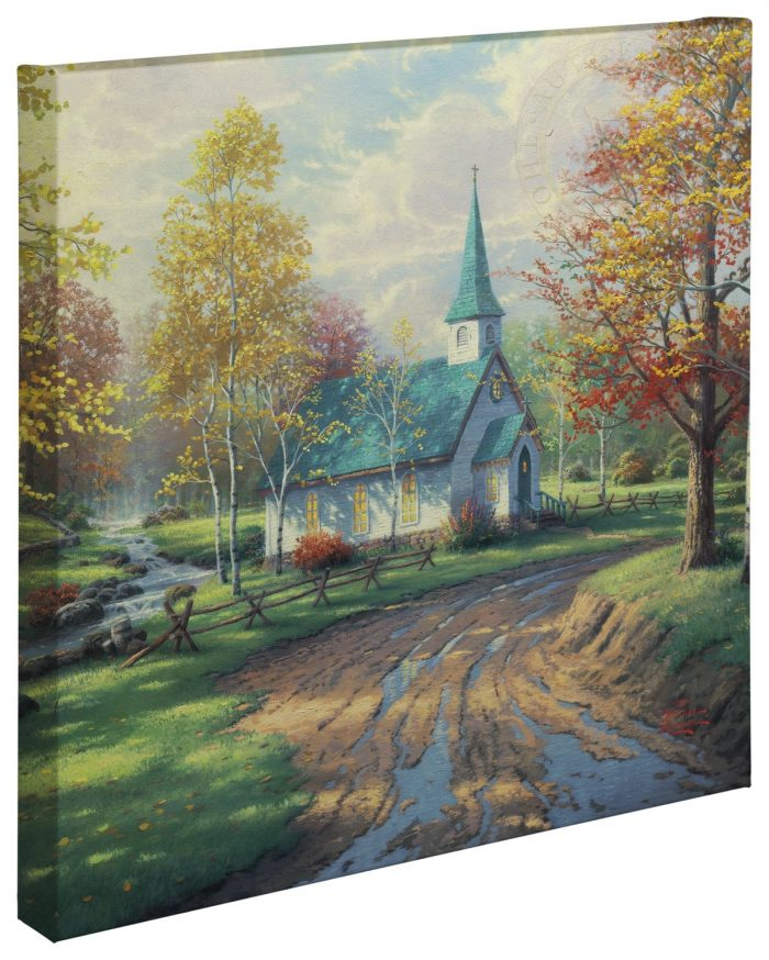 """Aspen Chapel, The – 20"""" x 20"""" Gallery Wrapped Canvas"""