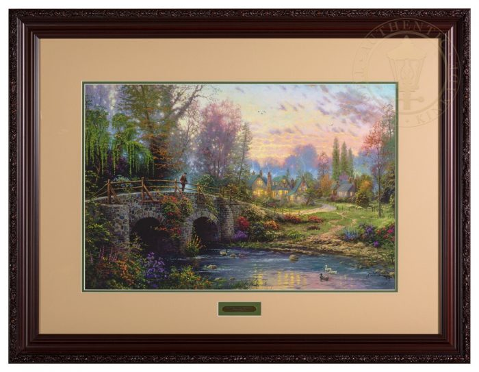 Cobblestone Evening – 18″ x 27″ GP Limited Edition Framed Print (Donovan Frame)