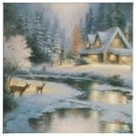 """Deer Creek Cottage - 20"""" x 20"""" Gallery Wrapped Canvas"""