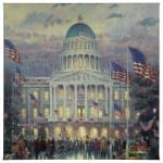 "Flags Over the Capitol - 20"" x 20"" Gallery Wrapped Canvas"