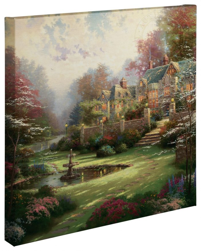 Gardens Beyond Spring Gate – 20″ x 20″ Gallery Wrapped Canvas
