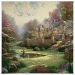 """Gardens Beyond Spring Gate - 20"""" x 20"""" Gallery Wrapped Canvas"""