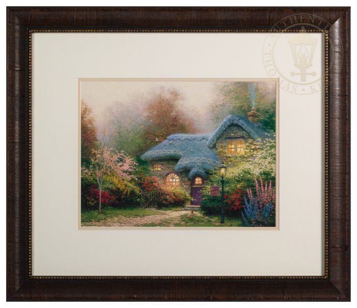 Heather's Hutch – Framed Matted Print Signed by Thomas Kinkade