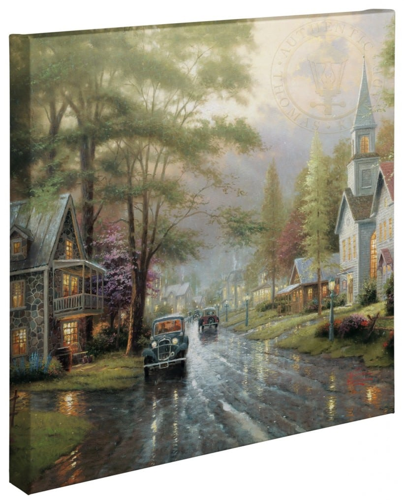 """Hometown Evening – 20"""" x 20"""" Gallery Wrapped Canvas"""