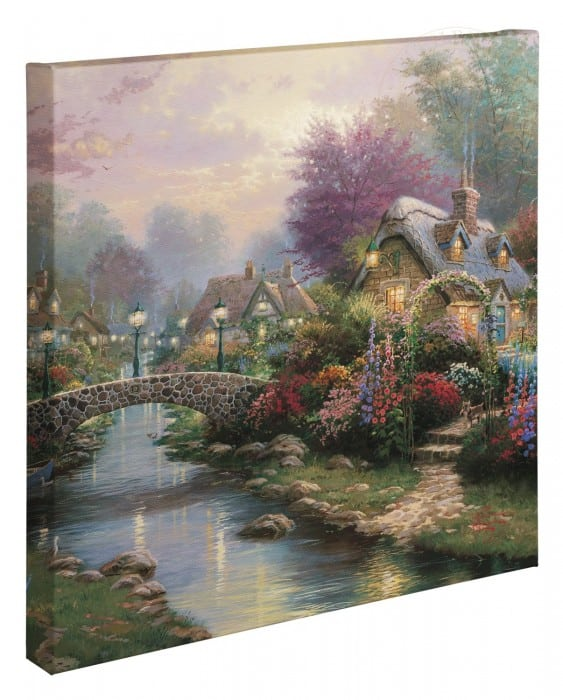 Lamplight Bridge – 20″ x 20″ Gallery Wrapped Canvas
