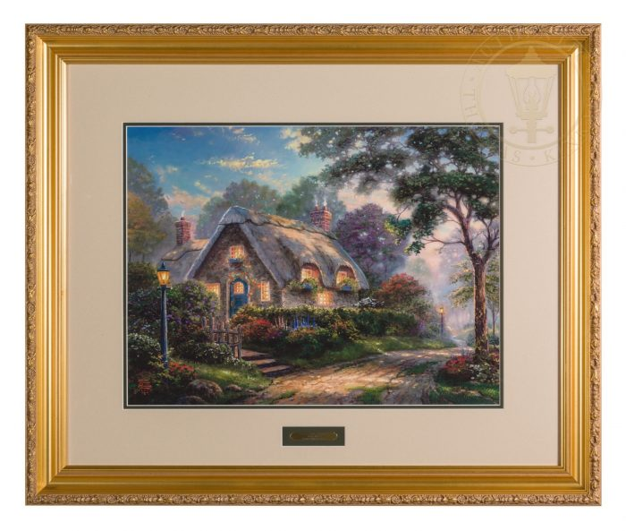 Lovelight Cottage – 18″ x 27″ SN Limited Edition Framed Print (Carmella Frame)