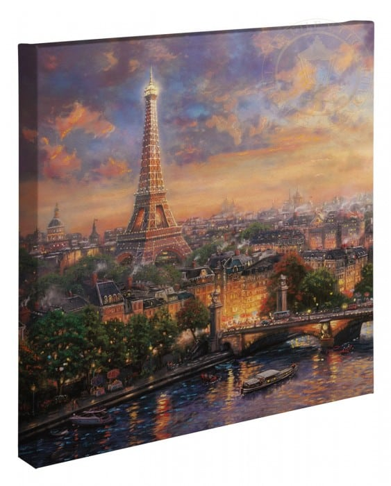 Paris, City of Love – 20″ x 20″ Gallery Wrapped Canvas