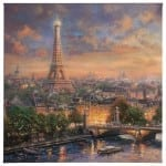 "Paris, City of Love - 20"" x 20"" Gallery Wrapped Canvas"