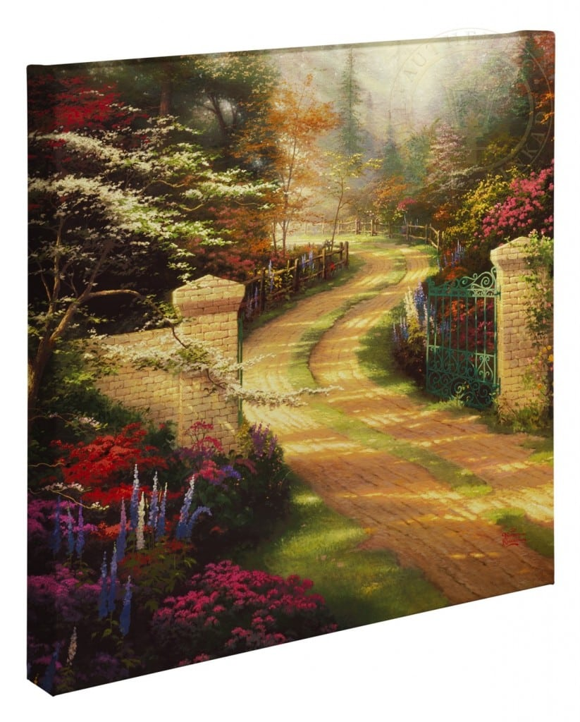 "Spring Gate – 20"" x 20"" Gallery Wrapped Canvas"