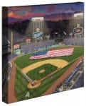 Evening at <em>Dodger Stadium</em>™ &#8211; 14&#8243; x 14&#8243; Gallery Wrapped Canvas