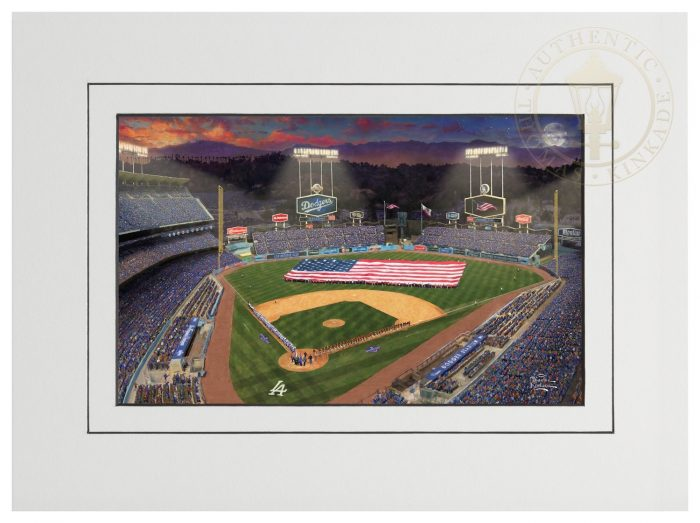 Evening at <em>Dodger Stadium</em>™ – 9″ x 12″ Matted Print