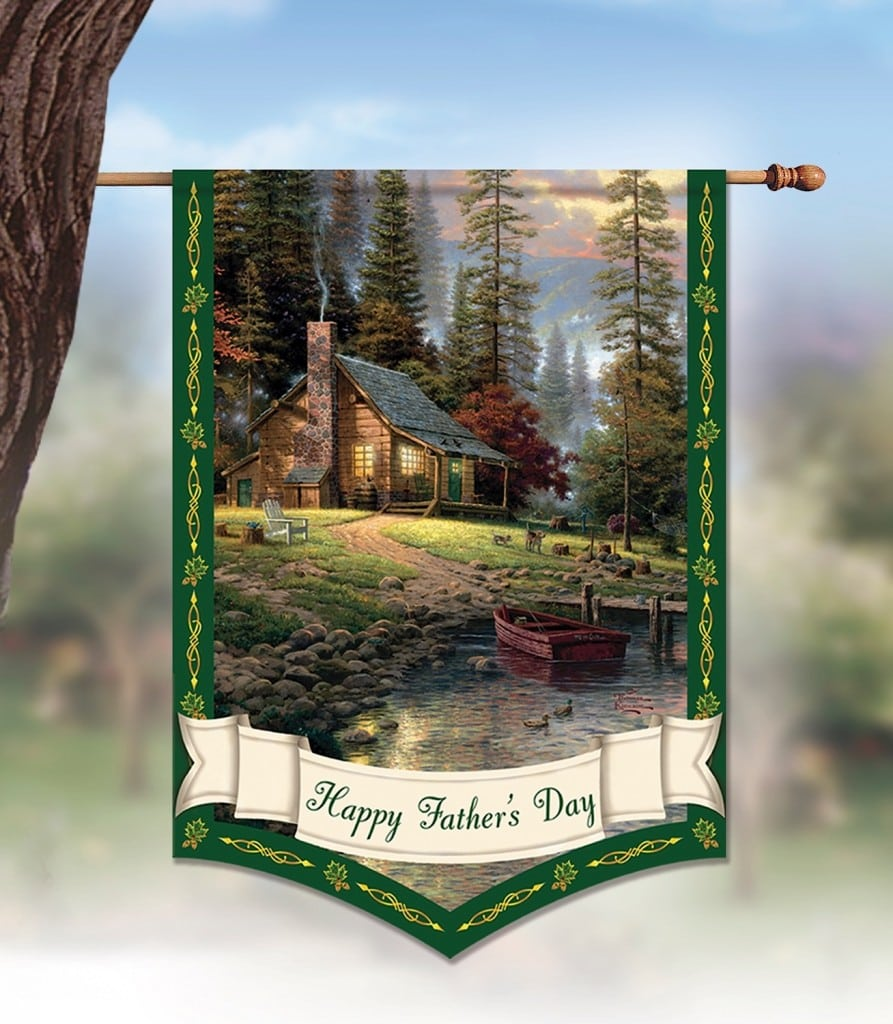 Bradford Exchange Thomas Kinkade Father's Day Flag