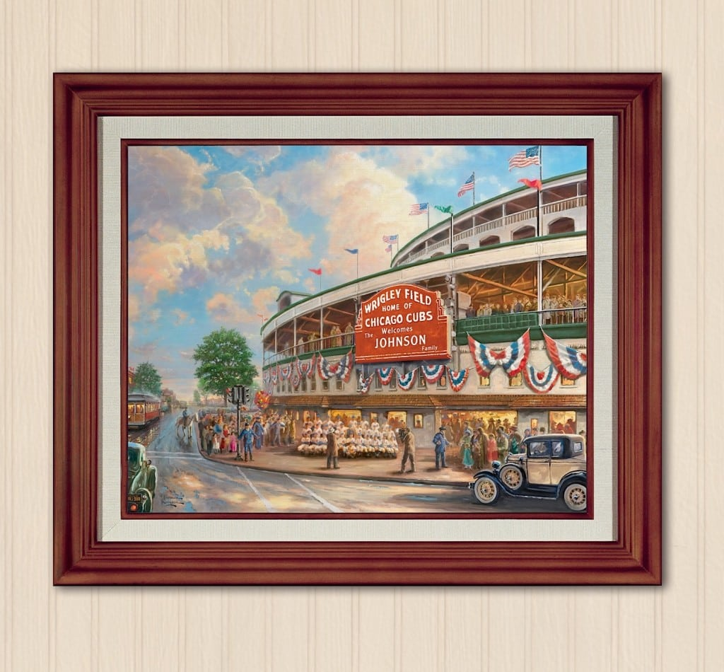 Bradford Exchange Thomas Kinkade Wrigley Field Personalized Print