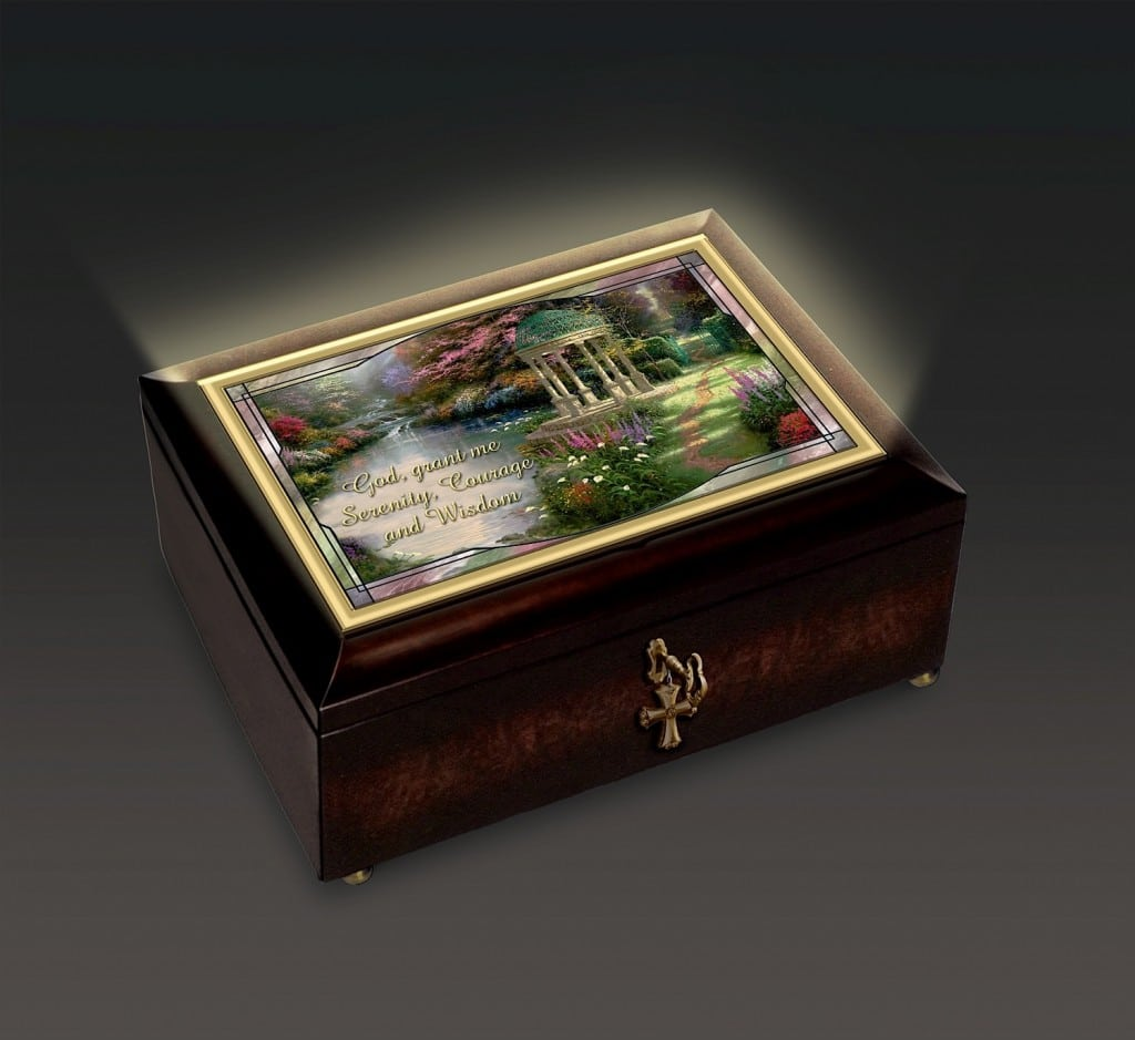 Bradford Exchange Thomas Kinkade Serenity Prayer Music Box