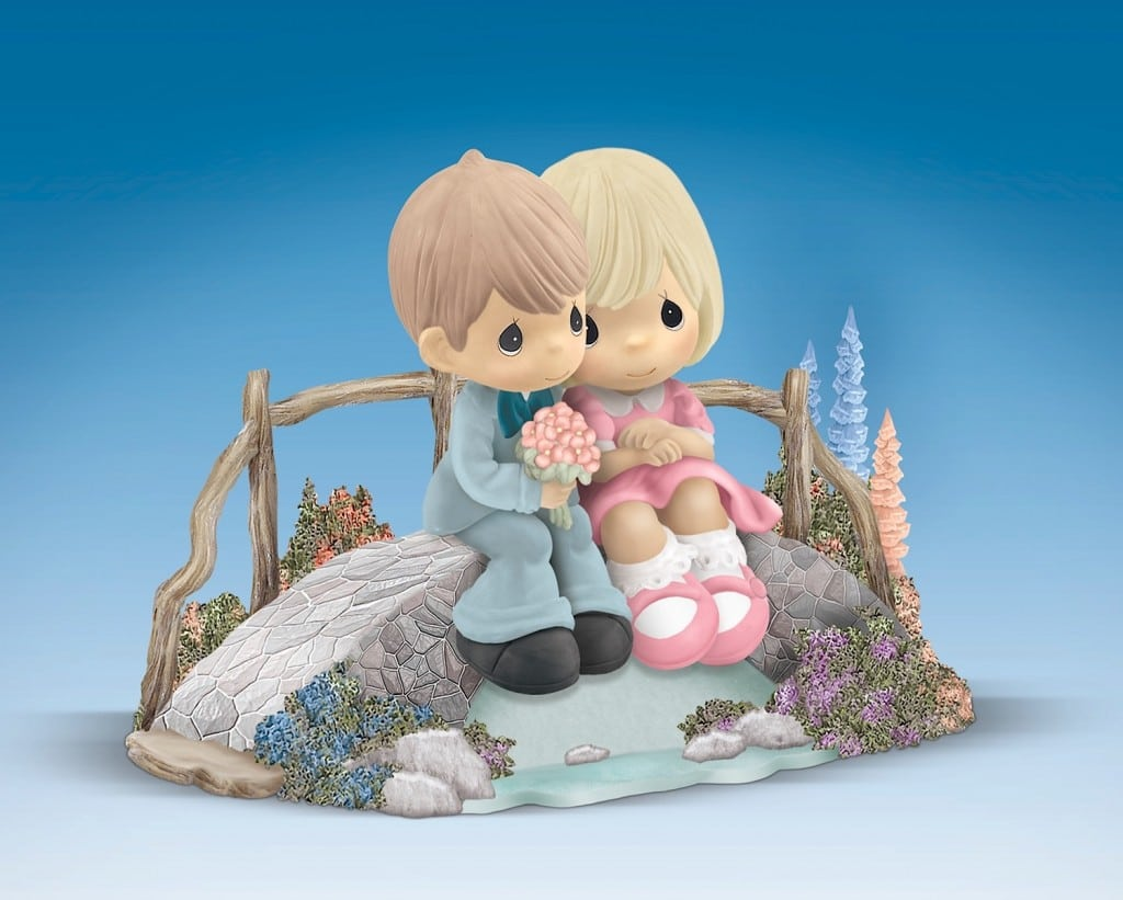 Thomas Kinkade Precious Moments Figurine