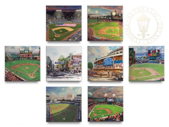 Major League Baseball™ Park Collection (Set of 8) – 14″ x 14″ Gallery Wrapped Canvas