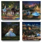 Cinderella Gallery Wrapped Canvases (Set of 4) – 14″ x 14″ Gallery Wrapped Canvas