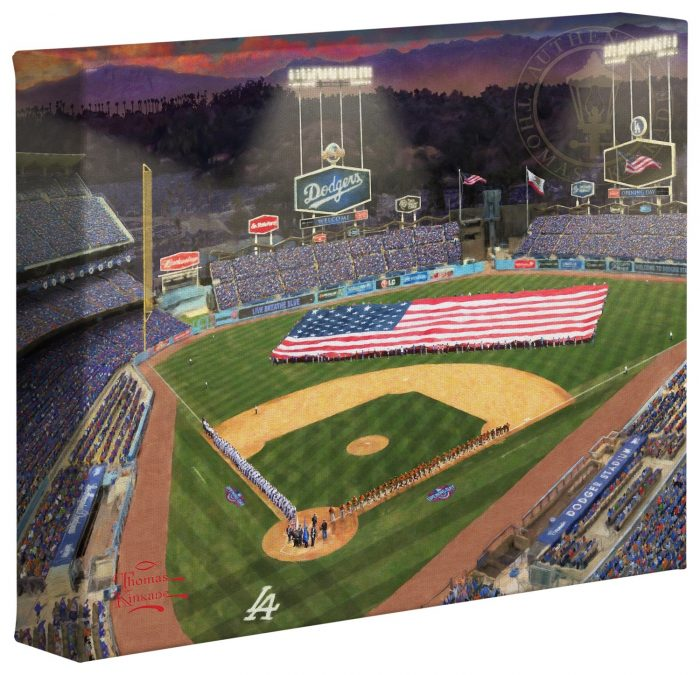 Evening at Dodger Stadium™ – 8″ x 10″ Gallery Wrapped Canvas