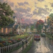 Morning Pledge - Thomas Kinkade