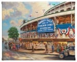 Wrigley Field 8 x 10 Gallery Wrapped Canvas - Front View