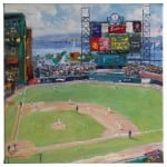 World Series National League Champions San Francisco Giants 14 x 14 Gallery Wrapped Canvas - Front View