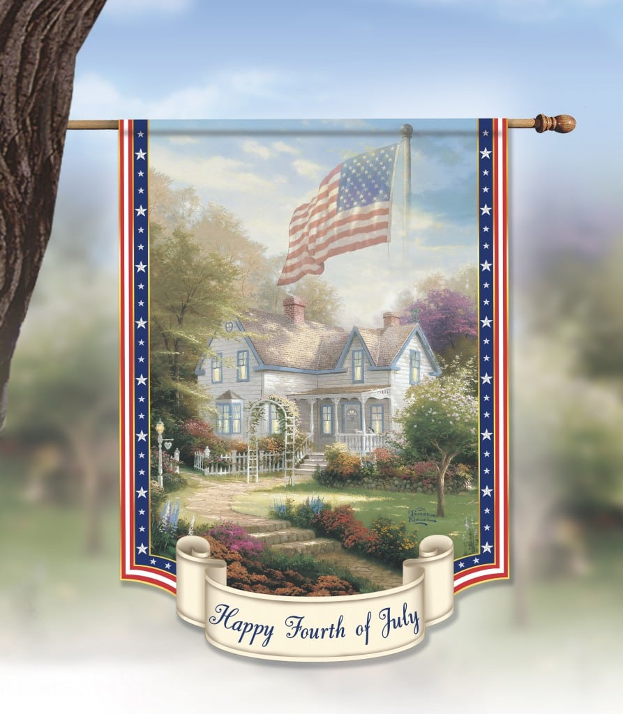 Thomas Kinkade Bradford Exchange 4th of July Flag