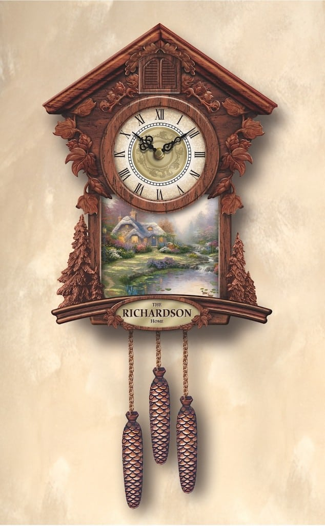 Thomas Kinkade Bradford Exchange Cuckoo Clock