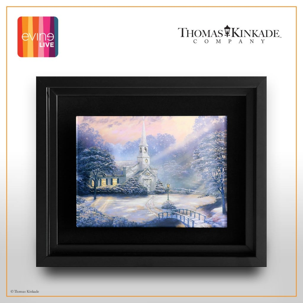 Thomas Kinkade Snow at Hometown Chapel Giveaway