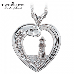 Thomas Kinkade Bradford Exchange Beacon of Hope Necklace
