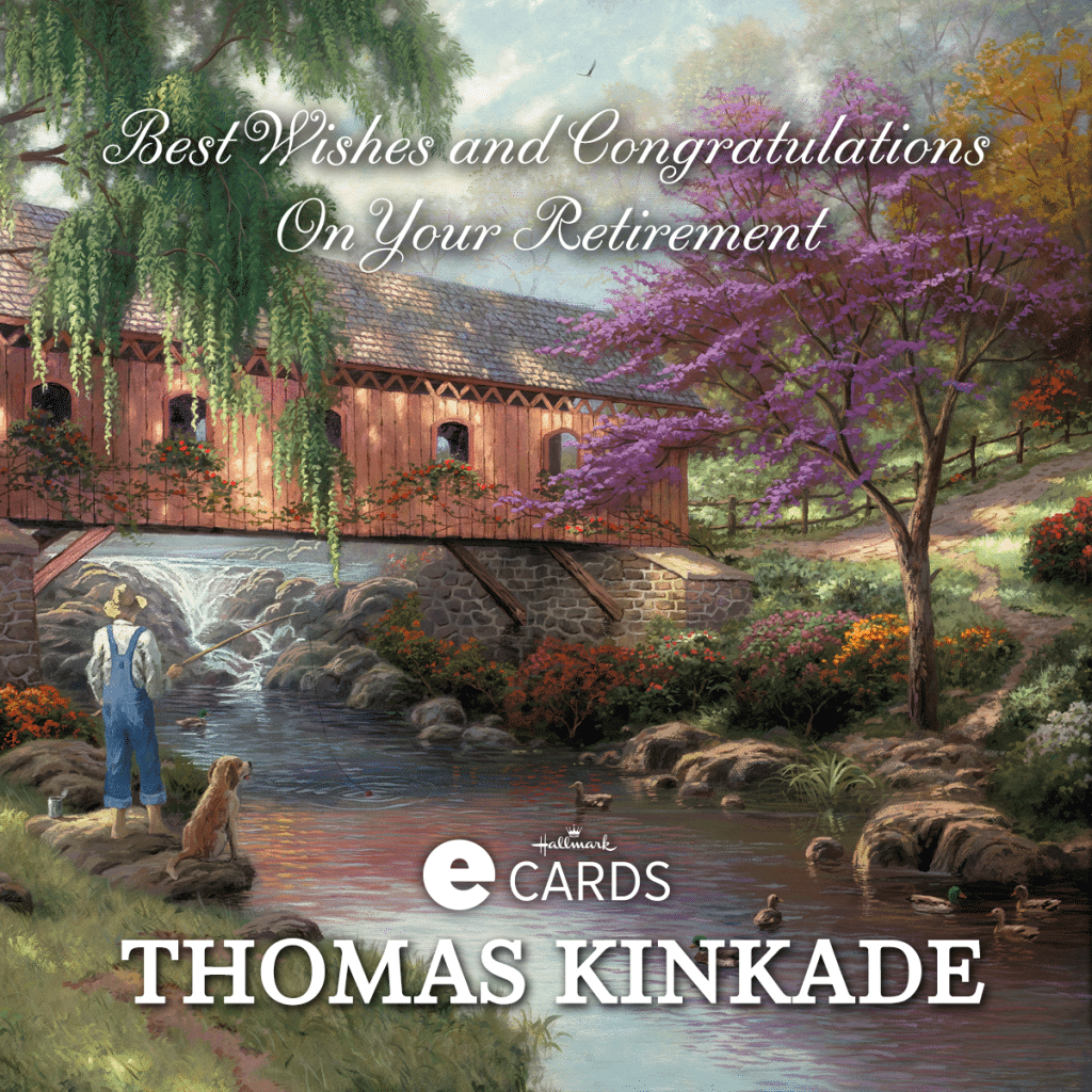 Thomas Kinkade Hallmark Retirement Card