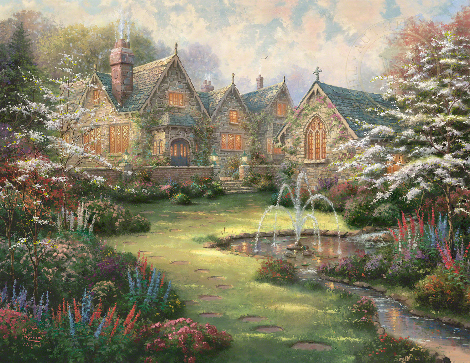 In The Beginning There Was Life Original >> Garden Manor | The Thomas Kinkade Company