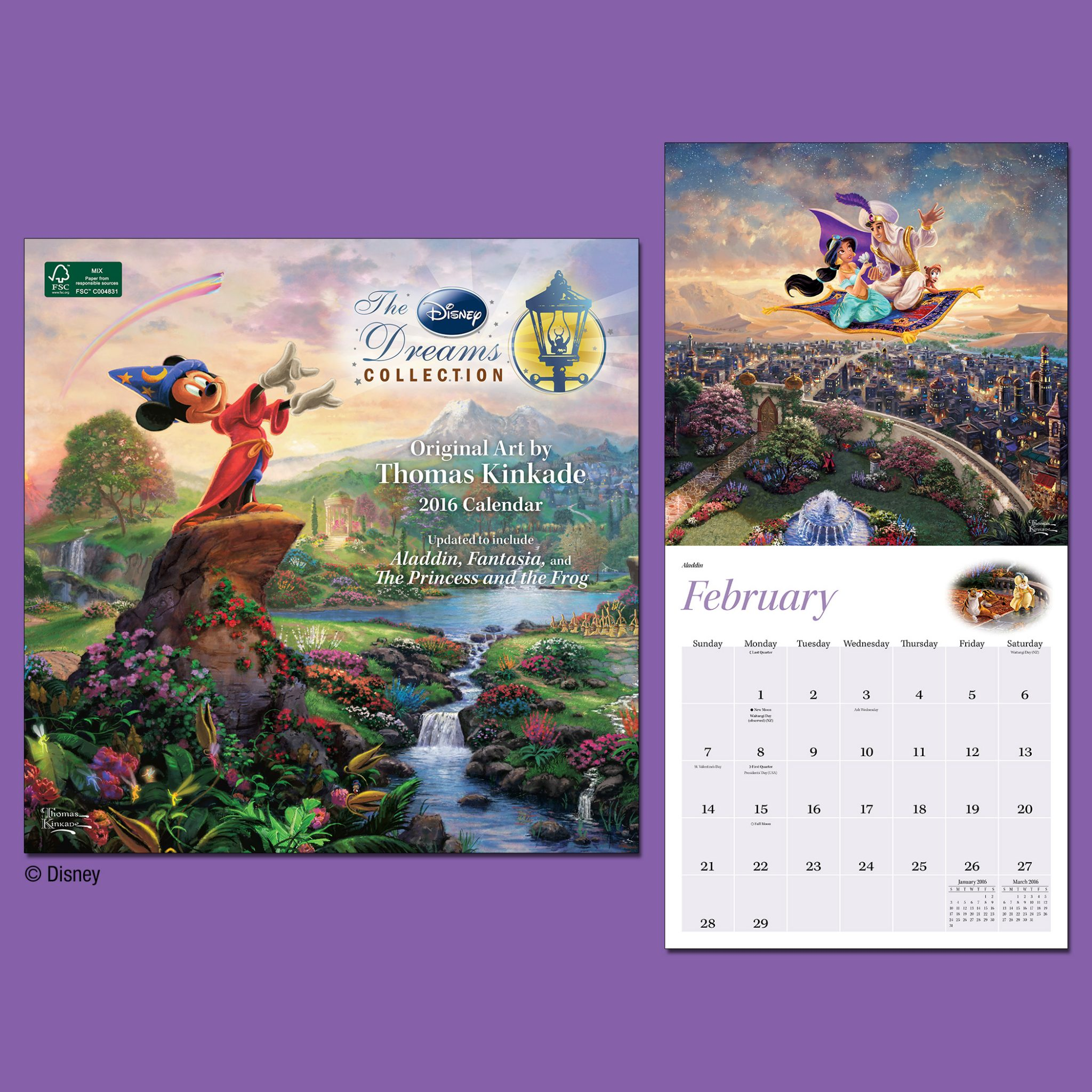 Calendar Disney : Disney dreams collection wall calendar the thomas