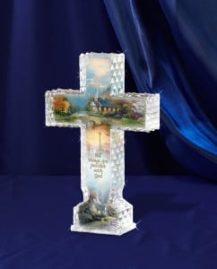 Thomas Kinkade Bradford Exchange Crystal Cross
