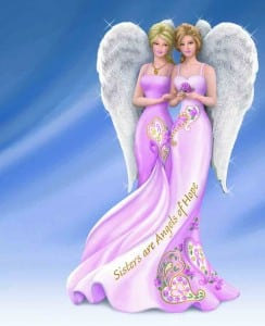 The Bradford Exchange Thomas Kinkade Sisters Are Angels Breast Cancer Support Figurine