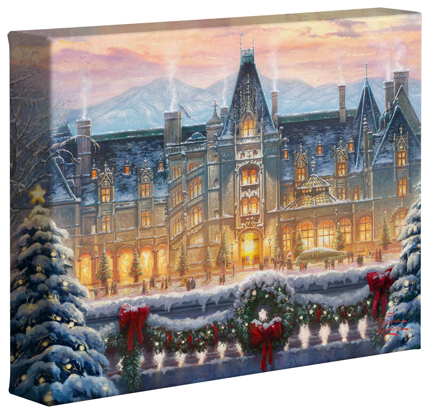 Biltmore Christmas.Christmas At Biltmore 8 X 10 Gallery Wrapped Canvas