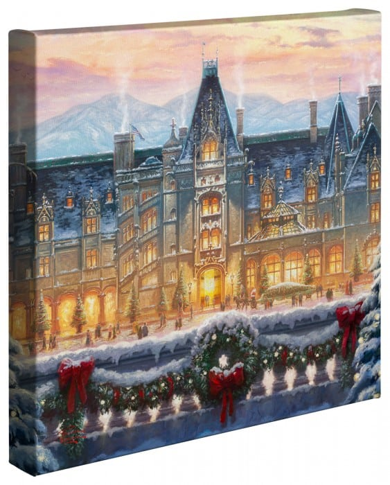 "Christmas at Biltmore® – 14"" x 14"" Gallery Wrapped Canvas"