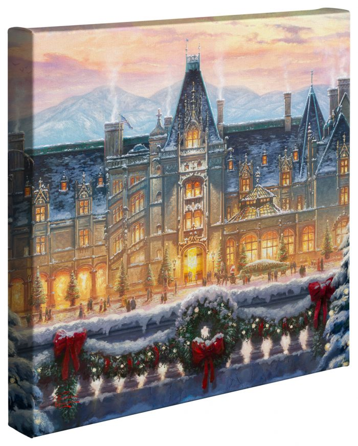 Christmas at Biltmore® – 14″ x 14″ Gallery Wrapped Canvas