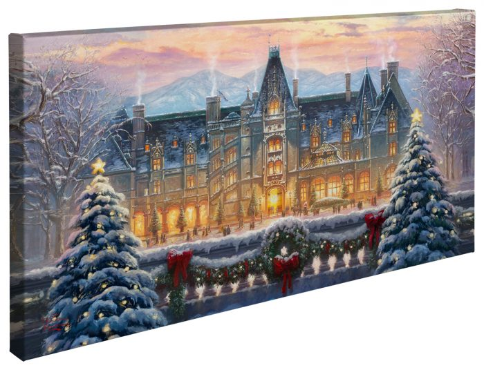 "Christmas at Biltmore® – 16"" x 31"" Gallery Wrapped Canvas"