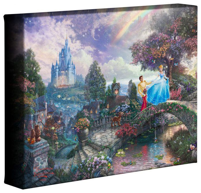 "Cinderella Wishes Upon A Dream – 8"" x 10"" Gallery Wrapped Canvas"